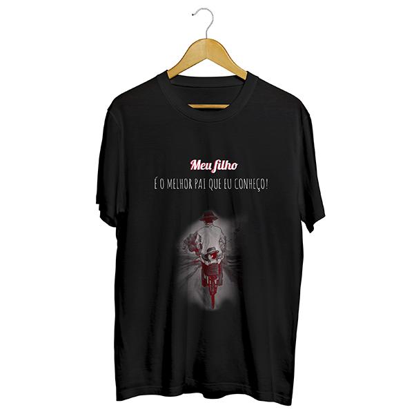 Camiseta - MEU FILHO É O MELHOR PAI QUE EU CONHEÇO. Masculino