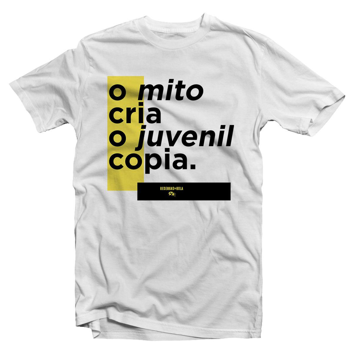 Camiseta - O MITO CRIA, O JUVENIL COPIA. Masculino