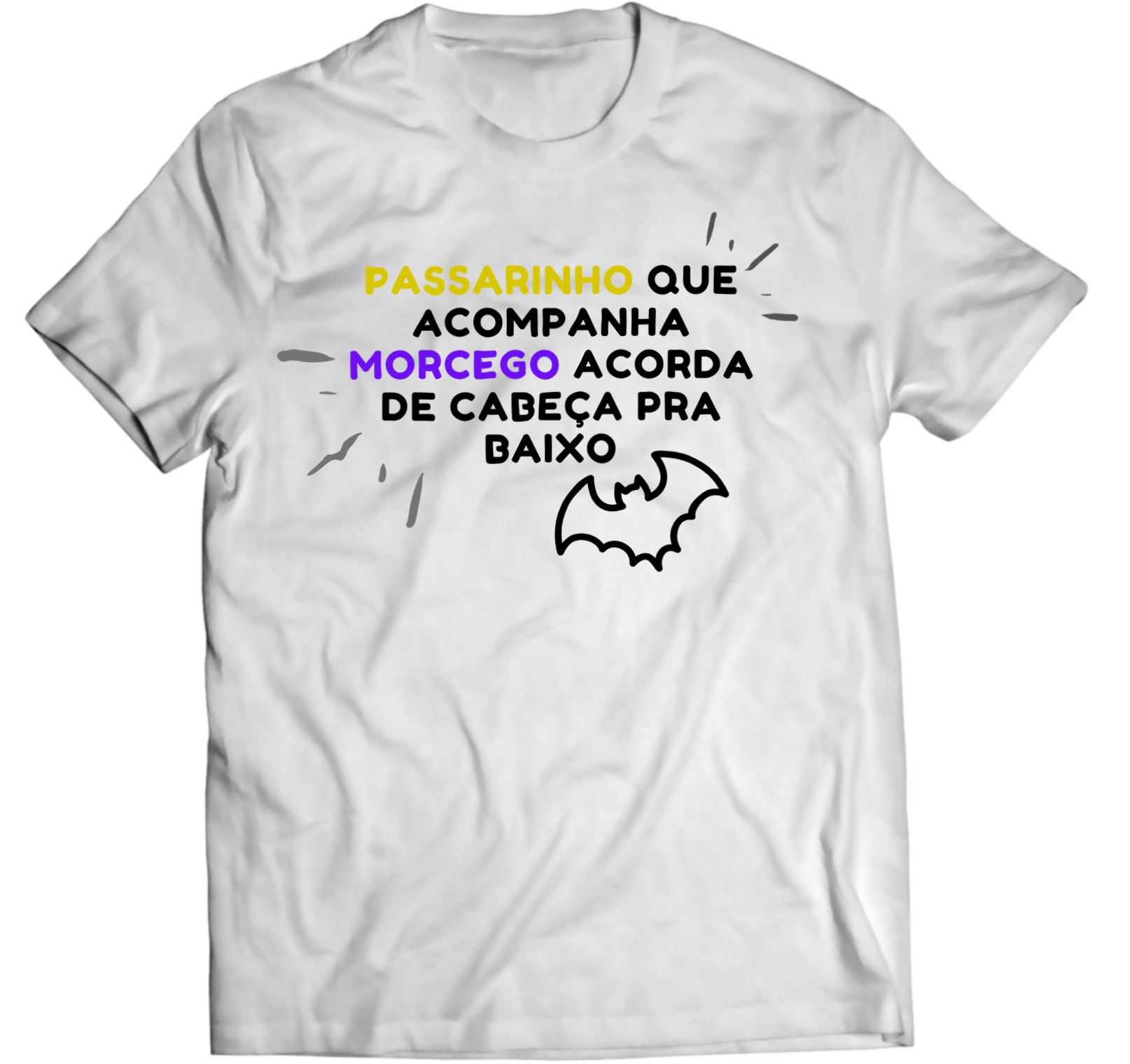 Camiseta - Passarinho e Morcego