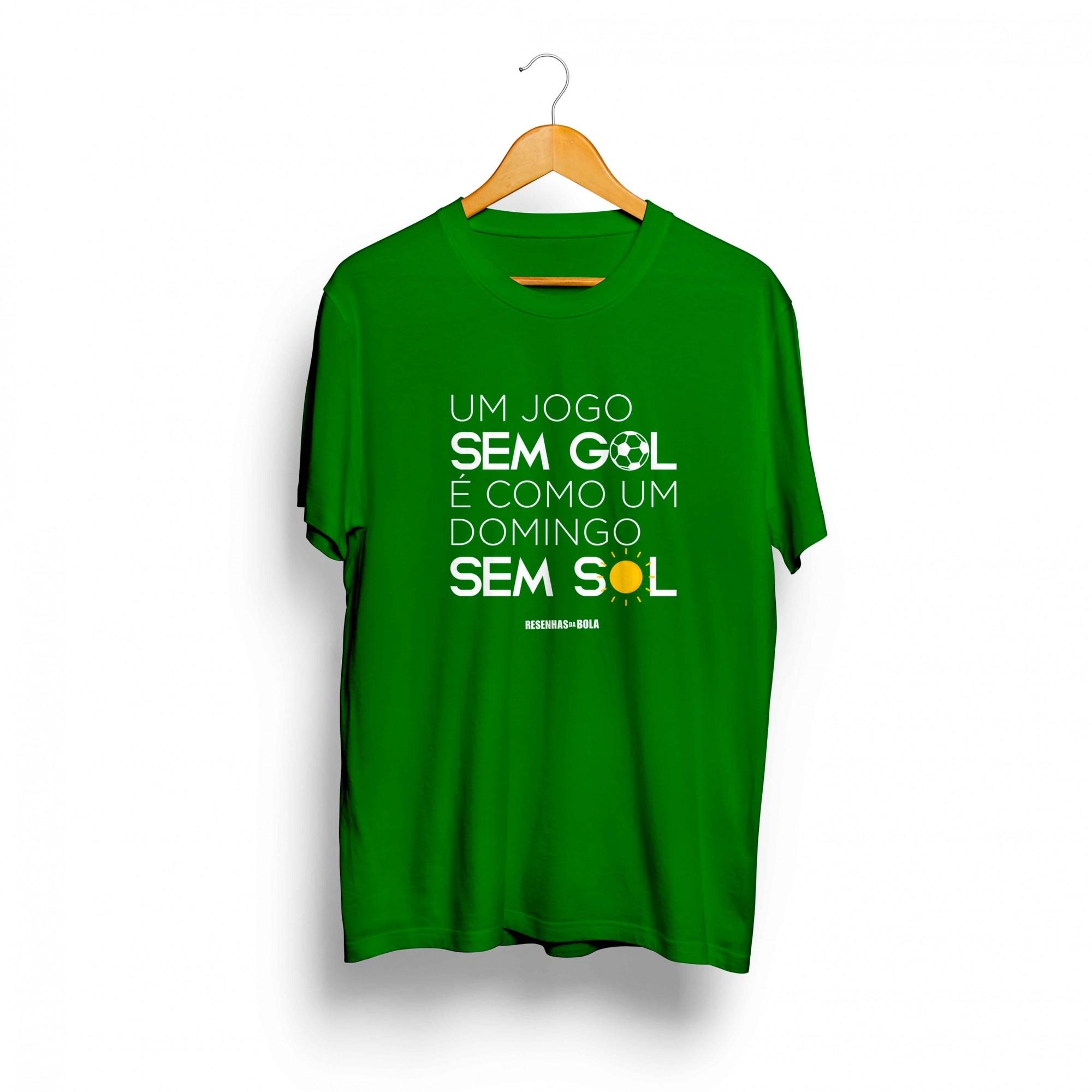 Camiseta - UM JOGO SEM GOL É COMO UM DOMINGO SEM SOL - Masculino