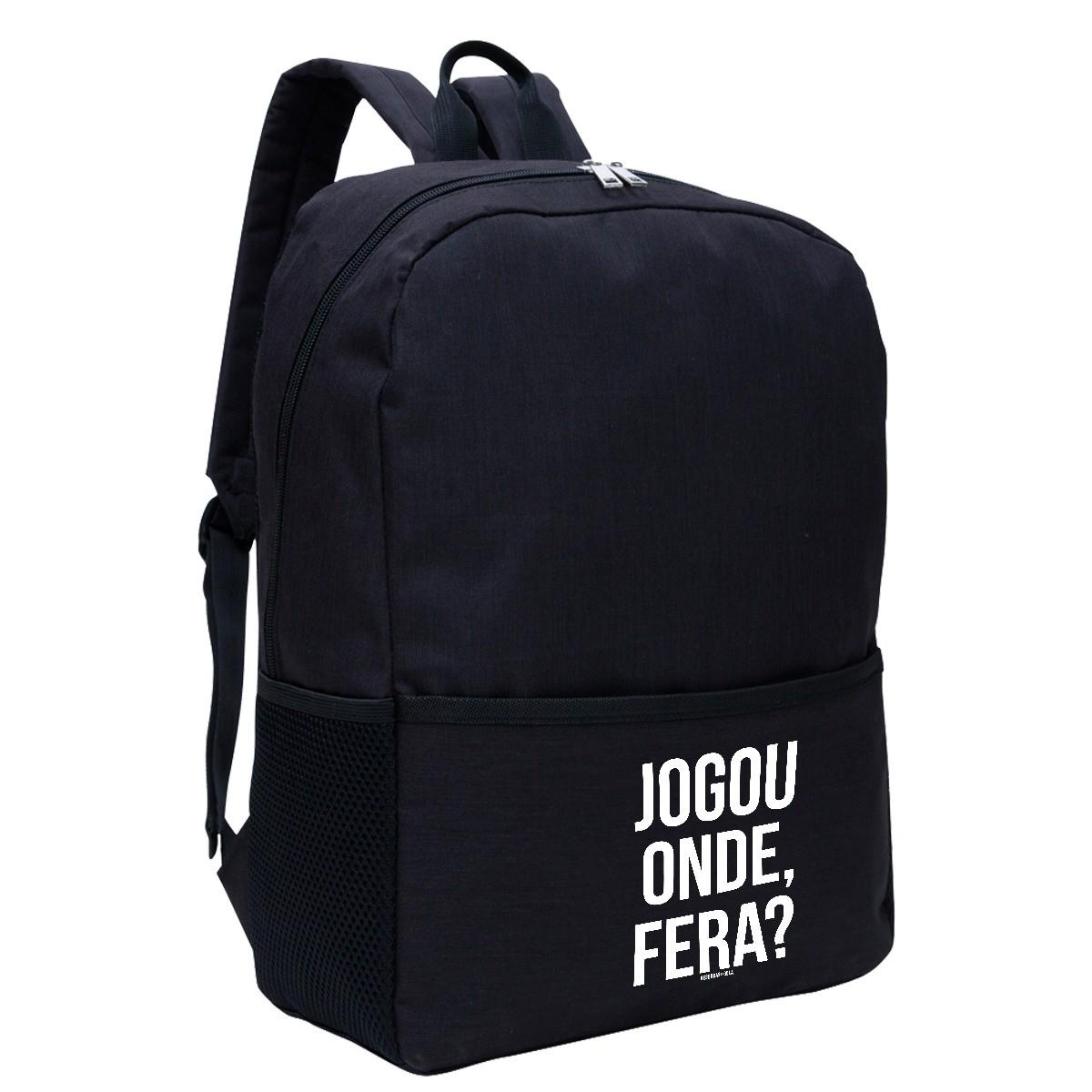 Mochila - JOGOU ONDE, FERA? -