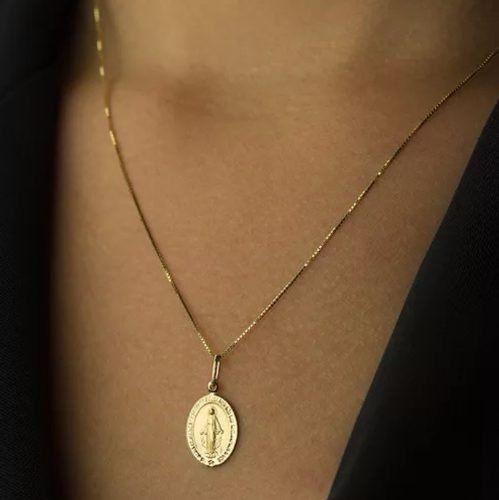 ... Medalha Ouro 18k 750 Nossa Senhora Das Graças-volvino F56 - VIAGOLD  JOIAS ... 8f7b0fd3ea