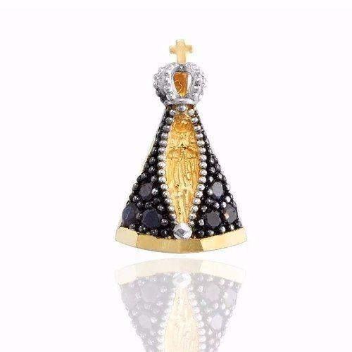 Pingente De Ouro 18k Nossa Senhora Aparecida - Viagold P05 - VIAGOLD JOIAS  ... 27f7e03749