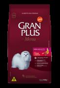 Ração Gran Plus Carne/Arroz Cães Mini Adulto - 3kg