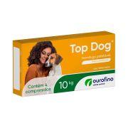 VERMÍFUGO TOP DOG 10kg - 4 comprimidos