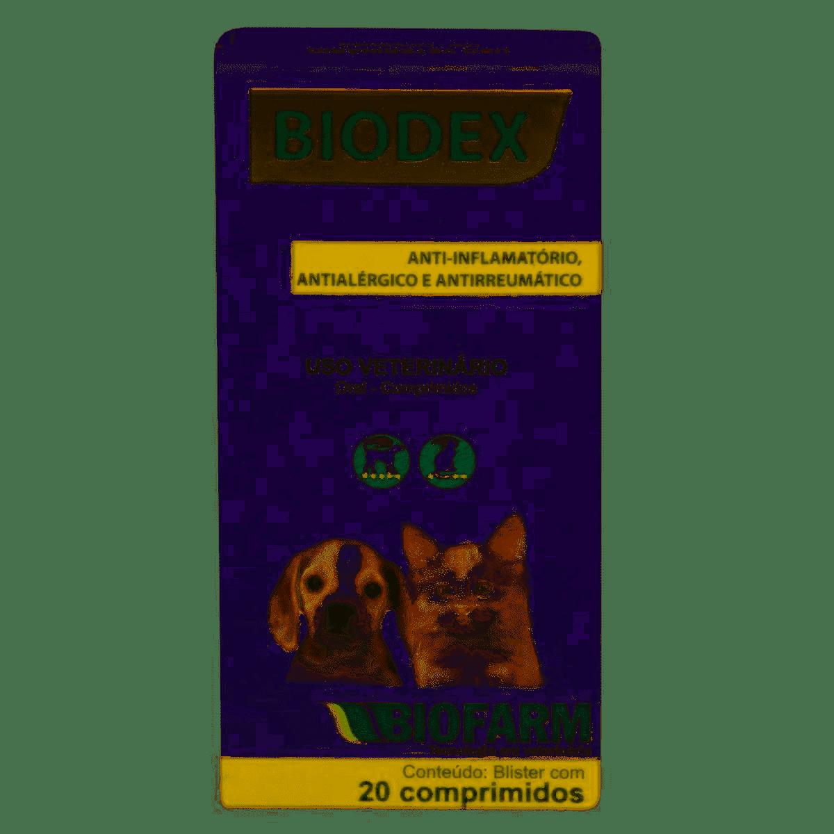 ANTI-INFLAMATÓRIO BIODEX  20 COMPRIMIDOS