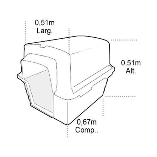 CASINHA PLAST. FURACAOPET N4 - VERMELHA