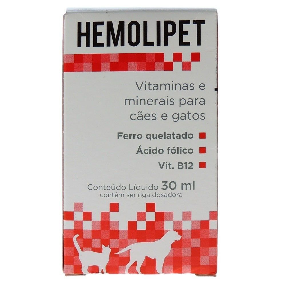 SUPLEMENTO VITAMÍNICO HEMOLIPET 30 ML