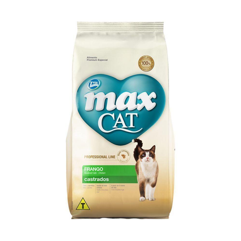 MAX CAT P. LINE CASTRADOS FRANGO 20KG