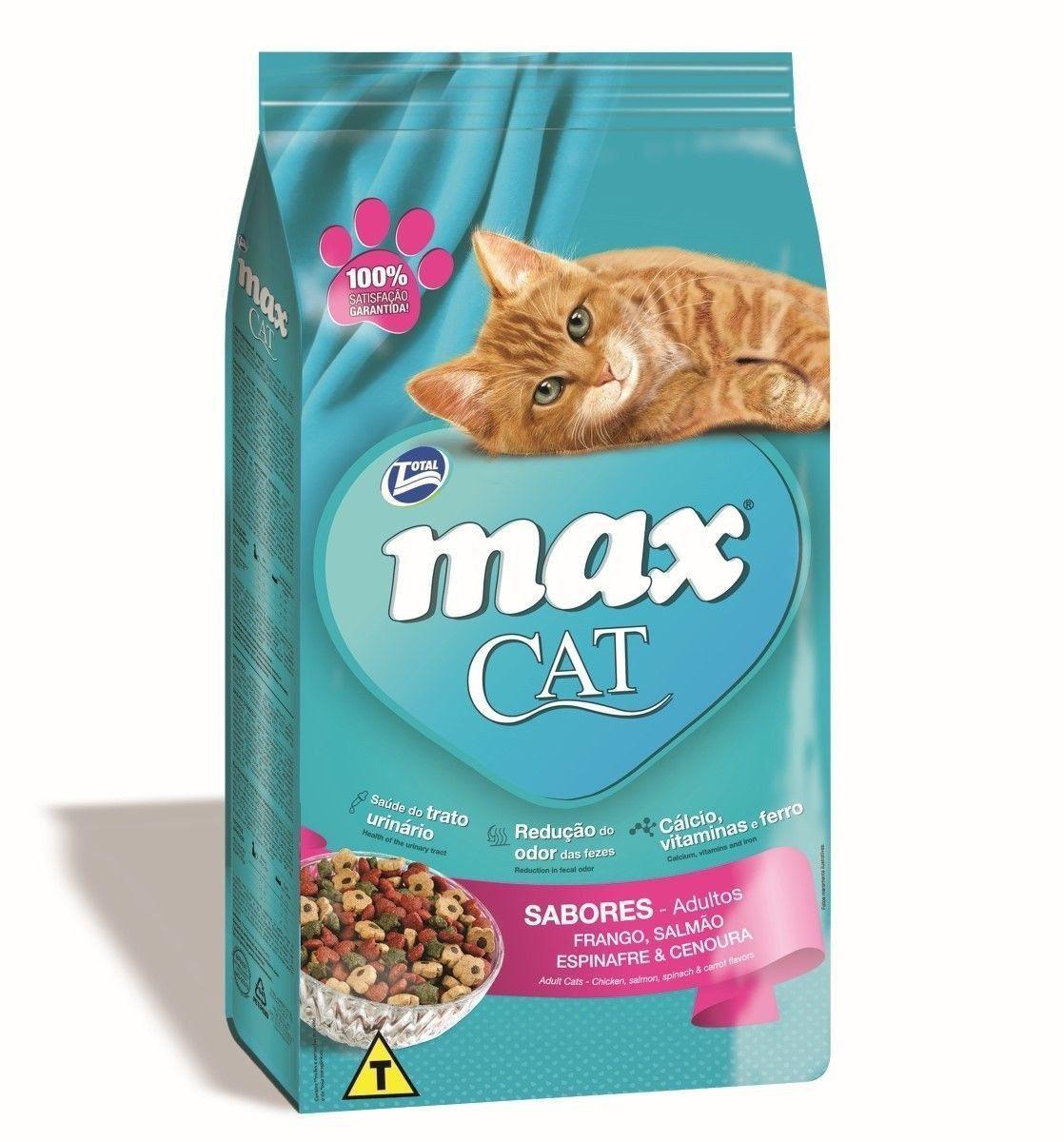 RAÇÃO MAX CAT ADULTOS SABORES - 20KG