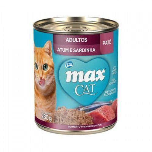 RAÇÃO ÚMIDA MAX CAT WET ADULTOS ATUM/SARDINHA - 80G