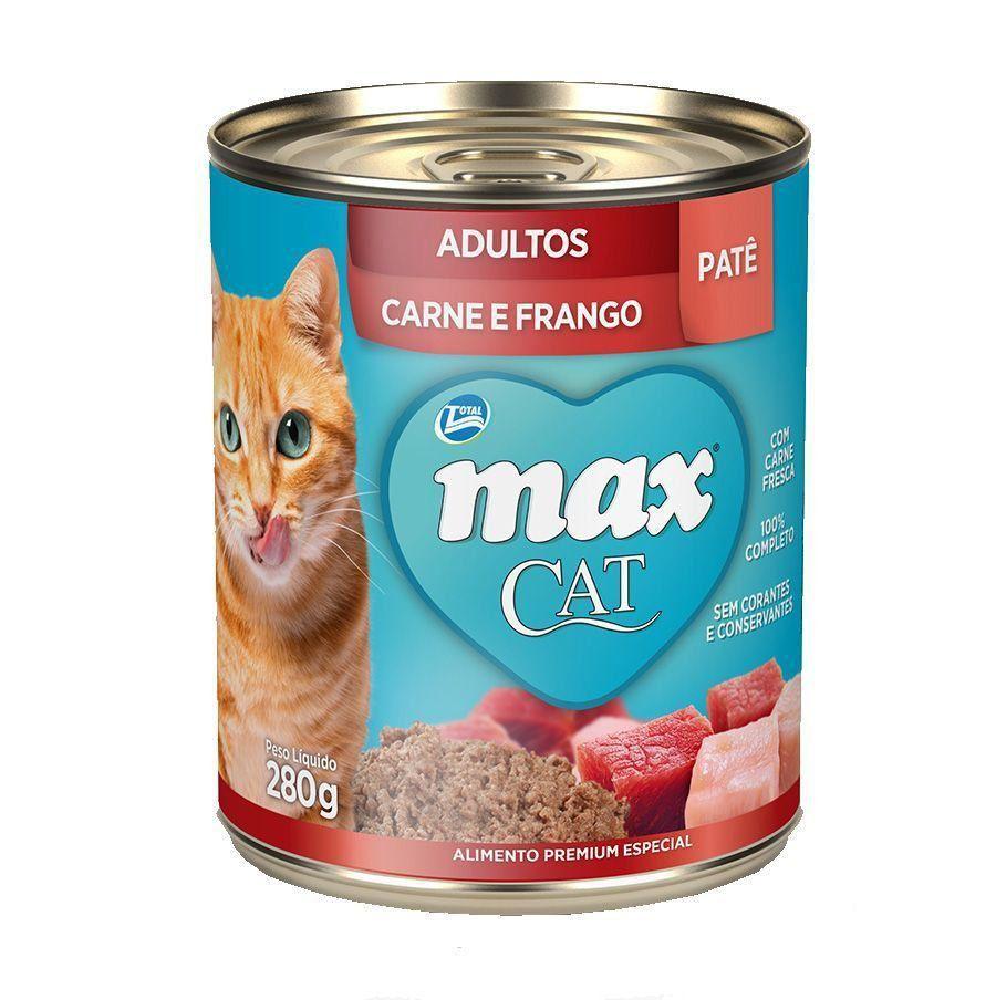 RAÇÃO ÚMIDA MAX CAT WET ADULTOS CARNE/FRANGO - 80G