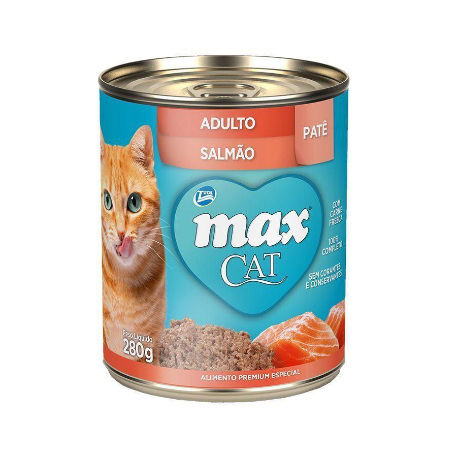 RAÇÃO ÚMIDA MAX CAT WET ADULTOS SALMÃO - 80G