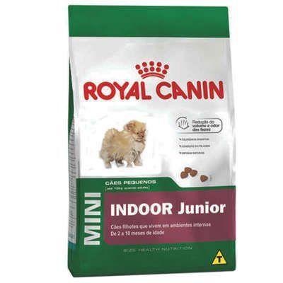RAÇÃO ROYAL CANIN MINI INDOOR JUNIOR - 7,5 KG