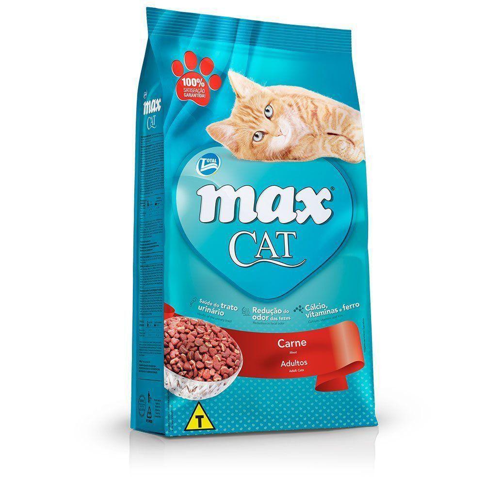 RAÇÃO MAX CAT SABOR CARNE PARA GATOS ADULTOS 1kg