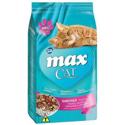 RAÇÃO MAX CAT SABORES DO MAR - 1KG