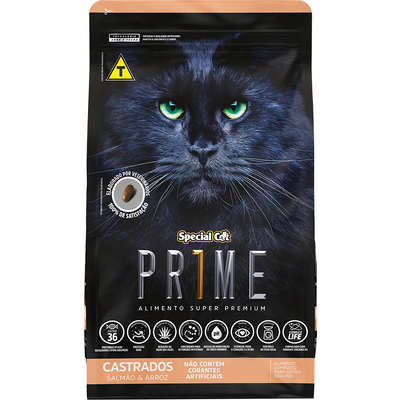 RAÇÃO SPECIAL CAT PRIME CASTRADOS SALMÃO E ARROZ 20 KG