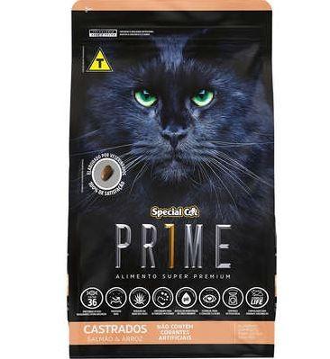 RAÇÃO SPECIAL CAT PRIME SALMÃO E ARROZ PARA GATOS CASTRADOS 10,1KG