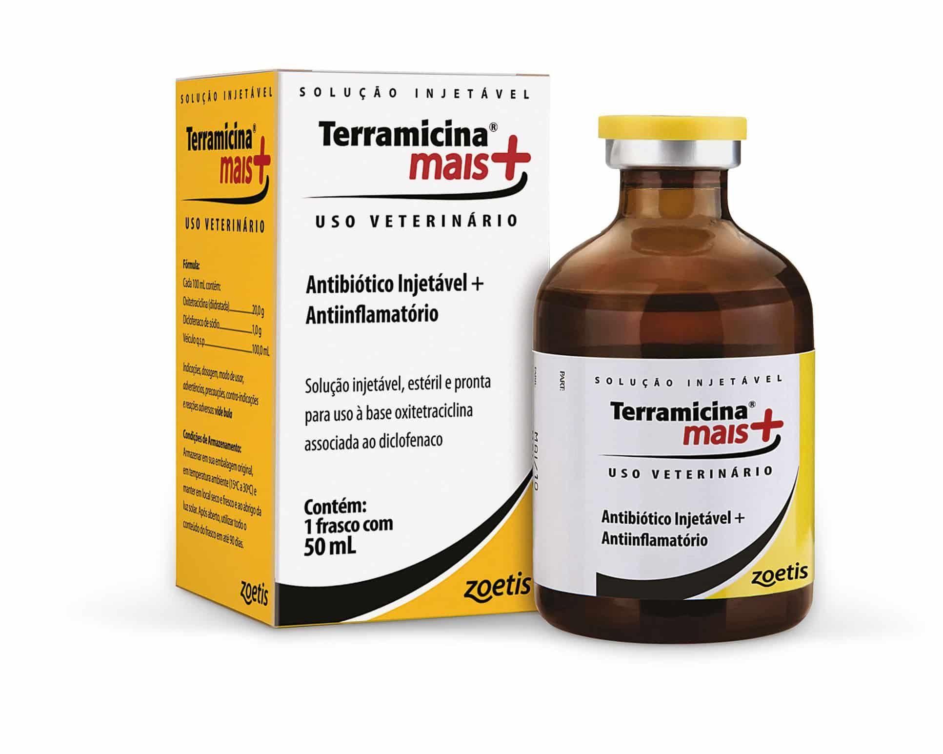 TERRAMICINA_MAIS ANTIBIÓTICO E ANTI-INFLAMATÓRIO INJETÁVEL 50 ML