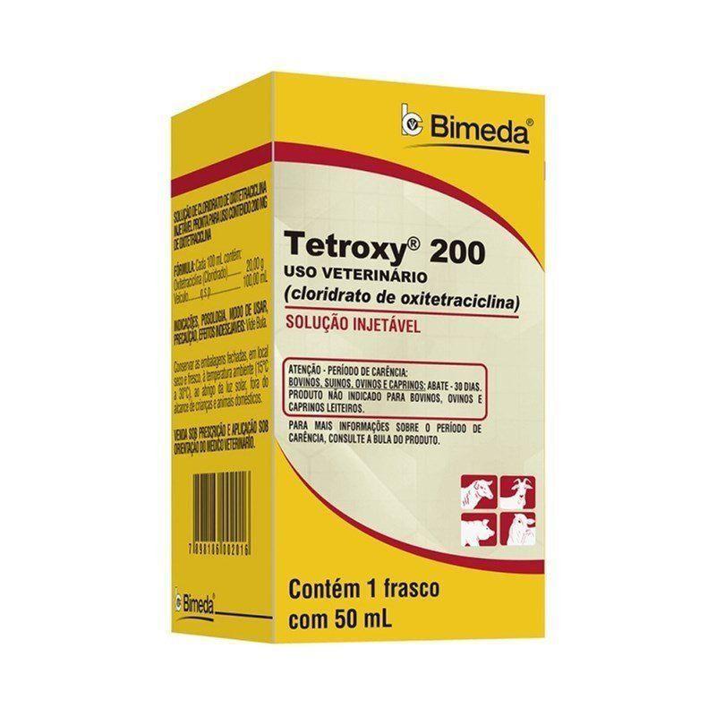 TETROXY 200 ANTIBIÓTICO OXITETRACICLINA INJETÁVEL 50ML