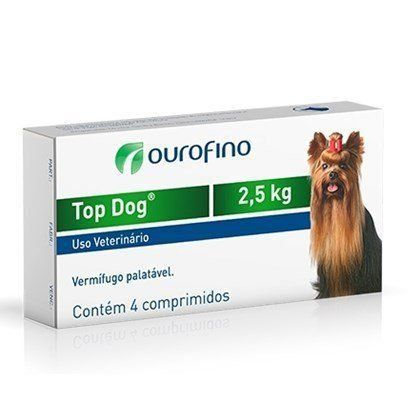 VERMÍFUGO TOP DOG 2,5kg - 4 comprimidos