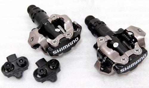 Pedal Spd Shimano Pd-m520 Mtb Ou Speed Com Tacos Preto