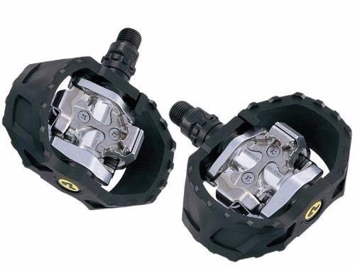 Pedal De Encaixe Shimano M424 Com Tacos Plataforma