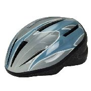 Capacete Mtb Adulto Cinza/azul P/m Absolute