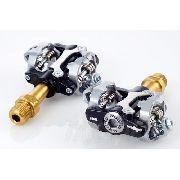 Pedal Wellgo Look Mtb spd W01 Al.pto Eixo Titanio.ing. Pro