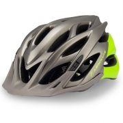 Capacete Ciclismo Bike Absolute Wild PiscaLed Cinza