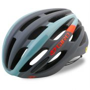 Capacete Ciclismo Bike Giro Foray Mips Cinza Azul Tamanho M