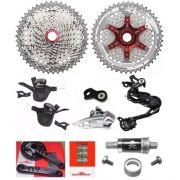 Kit Grupo Sunrace 2x10 11x42 10v 20v Completo Bike (8 Peças)