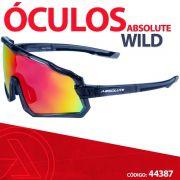 Oculos Absolute Wild preto lente vermelha