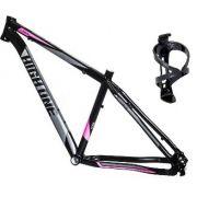 Quadro Bike Mtb High One 29 Alumínio 6061 T15 Preto/Rosa