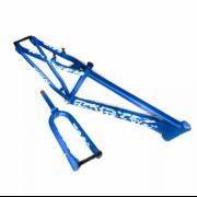 Quadro Vikingx Tuff 28 26 FreeStyle Aluminio Azul + Garfo