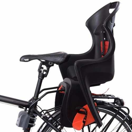 Cadeirinha P/ Bicicleta Polisport Dusky Traseira Pto/laranja