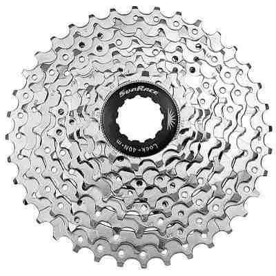 K7 Catraca Cassete Bike M96 9v Index 11-34 Cromado Sunrace