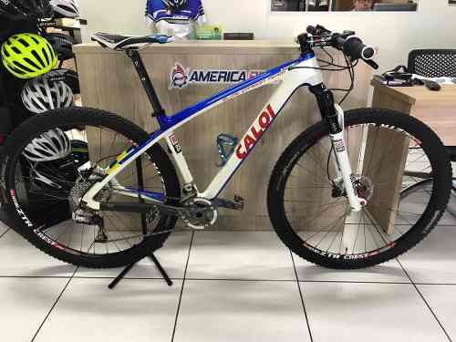 42a304f44 Bicicleta Caloi Elite Carbon Team 29 Sram Xx Seminova - America Bike ...
