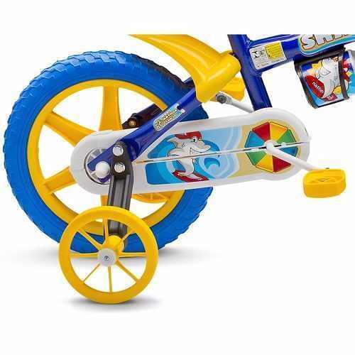 Bicicleta Infantil Nathor Aro 12 Amarelo/azul/branco Menino