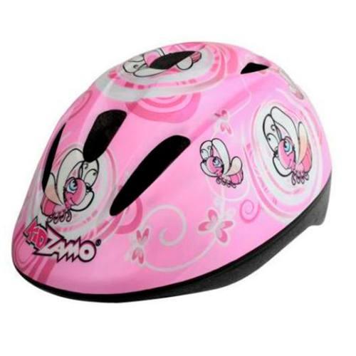 Capacete De Ciclismo Infantil Kz-168 Abelha Rosa