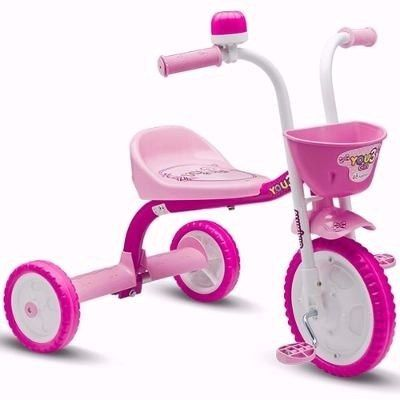 Triciclo You 3 Girl Rosa/branco Nathor