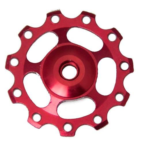 Roldana Cambio Aluminio Kenli Rolamentada Vermelha
