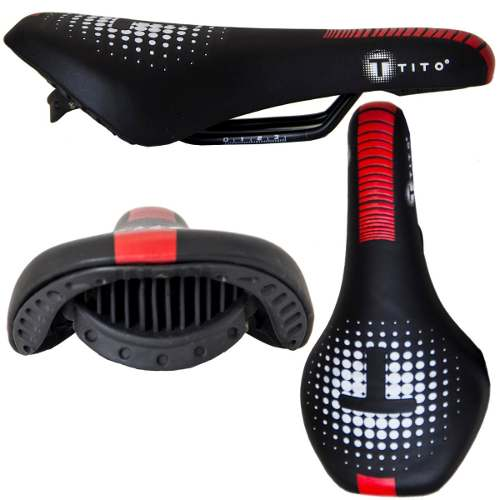 Selim Pro Tito Bike Mtb Preto Ultra Gel