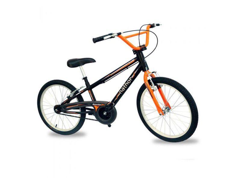 Bicicleta Aro 20 C/ Pezinho Nathor Apollo Bmx Laranja