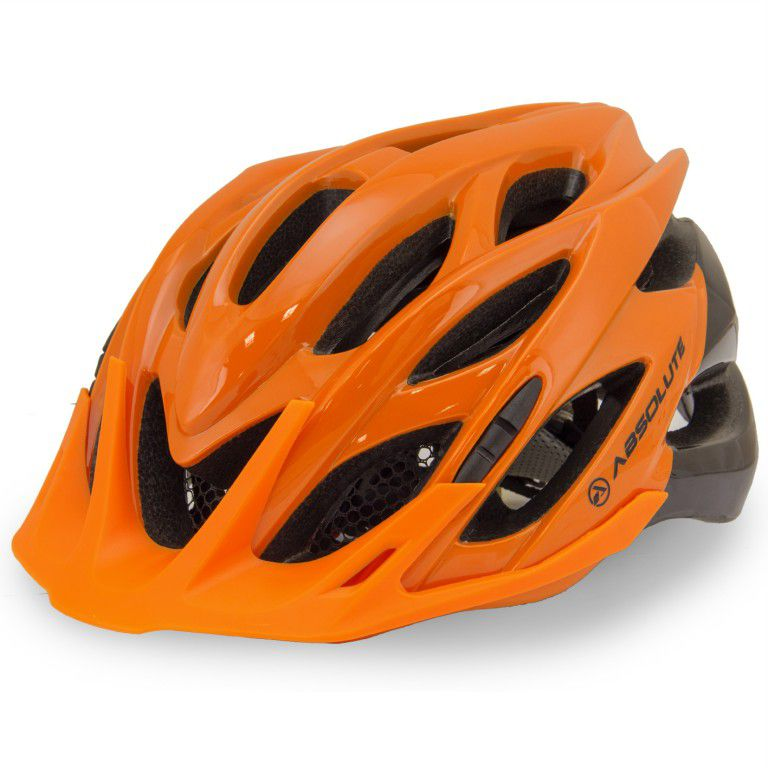 Capacete Ciclismo Bike Absolute Wild PiscaLed Laranja