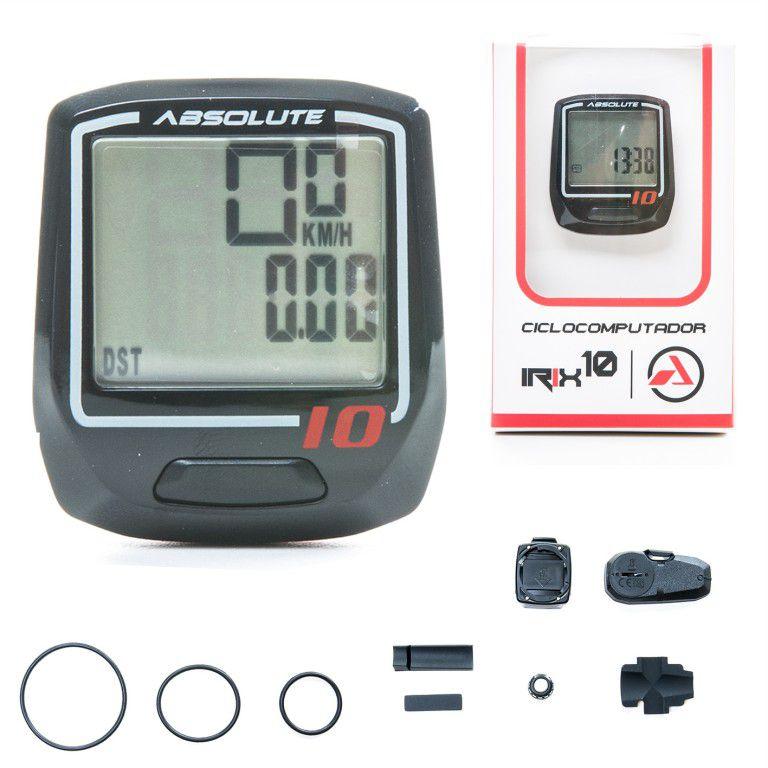 Ciclo Velocímetro Absolute Sem Fio Completo Irix10 Pro Preto