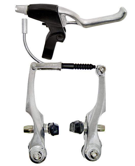 Kit Completo Freio V-brake Alumínio Logan Conduíte Cabo
