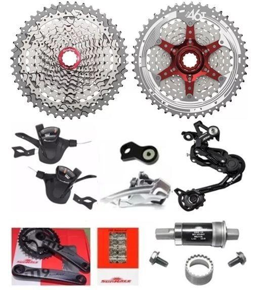 Kit Grupo Sunrace 2x10 11x42 Cambio Deore Bike (8 Peças)
