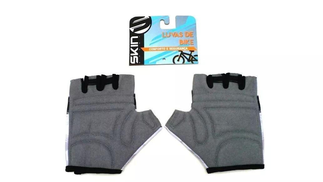 Luva espuma Bicicleta Ciclismo Meio Dedo Vision Skin