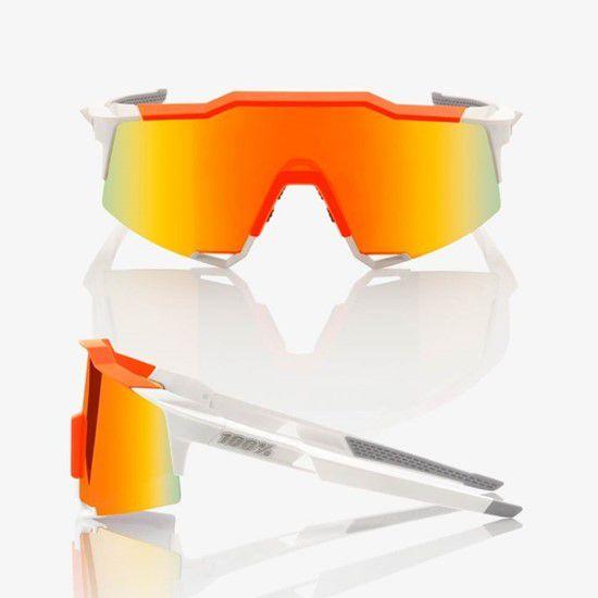 Óculos 100% Speedcraft branco/laranja